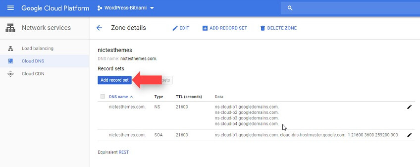 Agregar Records DNS Google Cloud