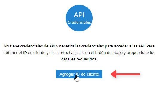 API Credenciales Zoho Mail ID de Cliente