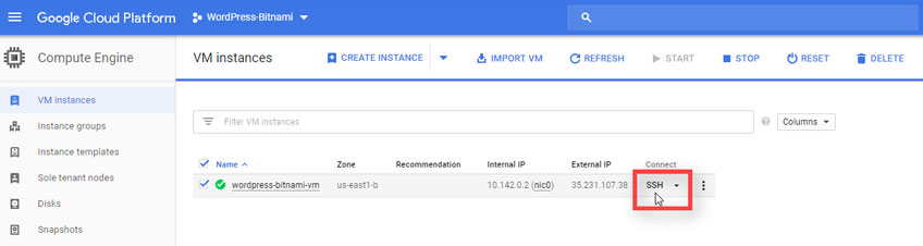 Conectar Via SSH VM Instances Google Cloud