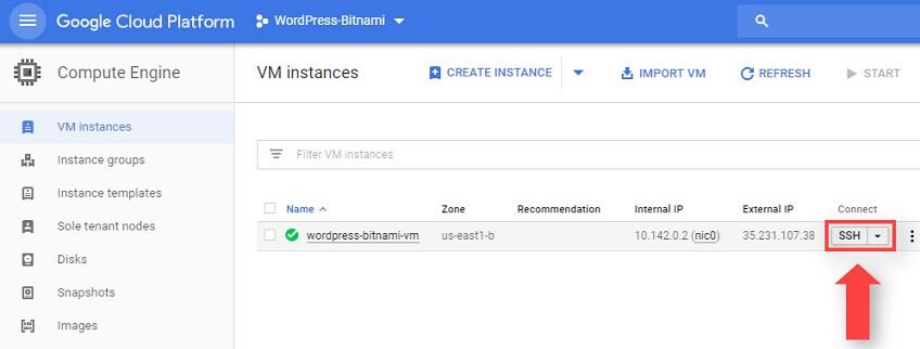 Conectar Mediante SSH VM Instances Google Cloud