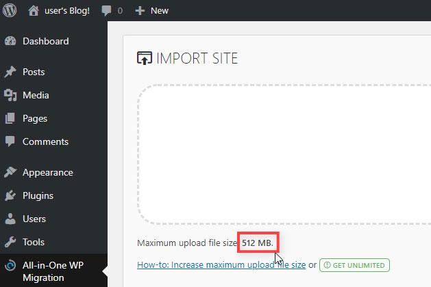 Aumento Tamaño Máximo Subida de Archivos en WordPress