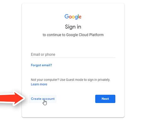 Crear Cuenta Para Google Cloud Paso 1