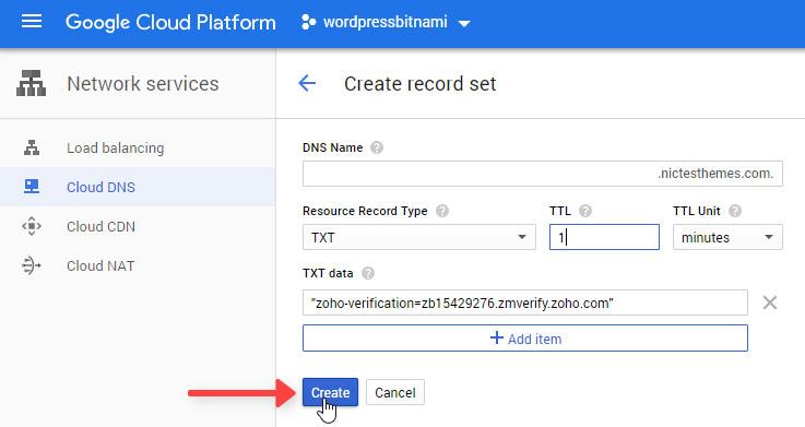Crear Registro DNS TXT Verificar Dominio Zoho Mail
