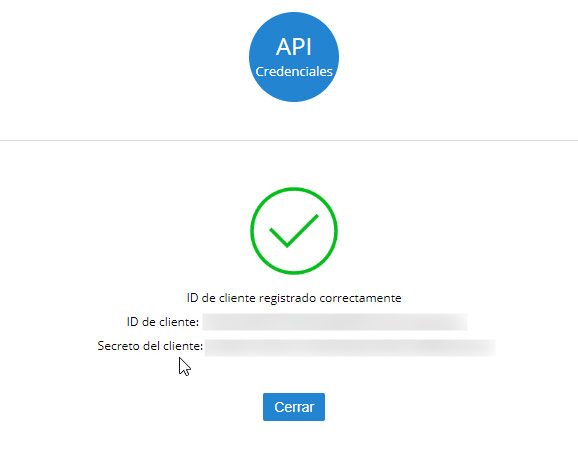 Datos API Credenciales Zoho Mail Plugin WordPress