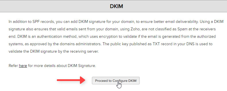 Configurar DKIM Zoho Mail