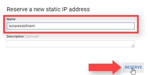Reservar Nueva IP Estática Google Cloud