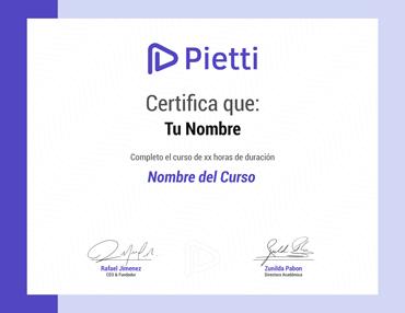 Certificado Virtual Cursos Pietti