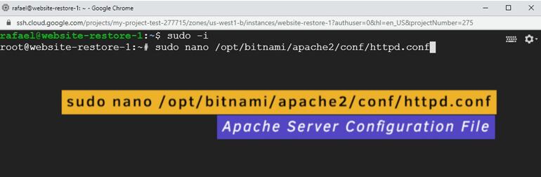 Archivo Configuración Servidor Apache WordPress Bitnami