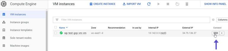 Conectar por SSH VM Instances Google Cloud