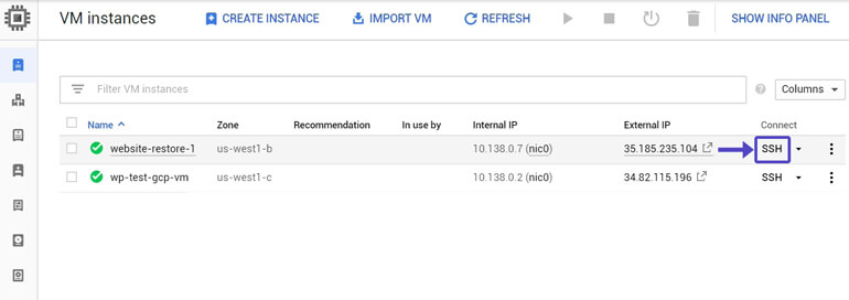 Conectarnos SSH Google Cloud Configurar Expires Headers