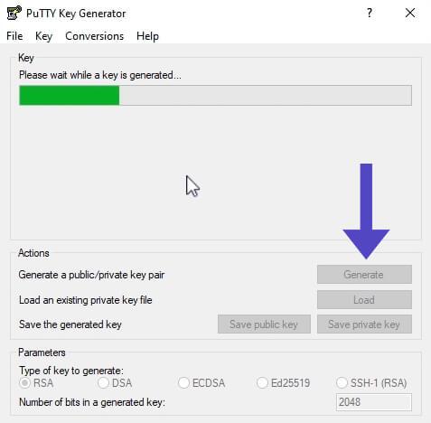 Generar SSH Keys PuTTY