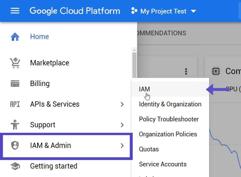 IAM Agregar Usuarios Proyecto Google Cloud