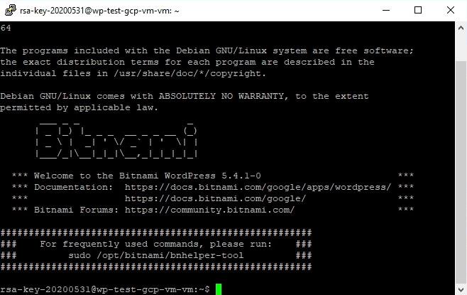 Terminal SSH Tunnel Conexión VM Instance Google Cloud